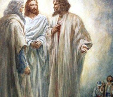 المسيح يتجلى ممجدا بطبيعته الالهية